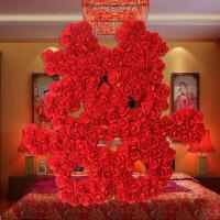 婚庆用品结婚�肿痔�婚房双喜布置装饰 创意手工大喜字窗花 红色大号