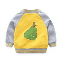 婴儿衣服春秋卫衣外套开衫春季宝宝上衣男童女6-12个月1岁纯棉3春