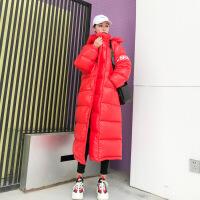 棉衣女中长款过膝加厚羽绒chic面包服韩版棉袄冬季连帽外套