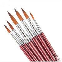 水彩画笔马利牌G1106尼龙水彩画笔水彩笔国画笔6支袋装
