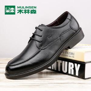 木林森男鞋 冬季新品男士商务休闲皮鞋 百搭舒适简约男皮鞋05367119