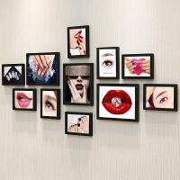 美甲照片墙贴纸会所指甲壁画美容院化妆品店背景墙装饰相框墙挂画