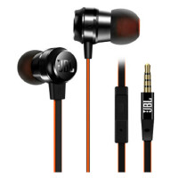 JBL T280A + 钛振膜入耳式通用耳机高保真立体声线控带麦一键接听 珍珠黑