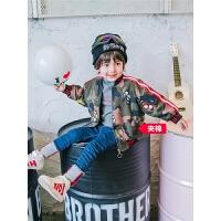 儿童迷彩外套男童冬装夹克小童秋冬上衣宝宝洋气童装