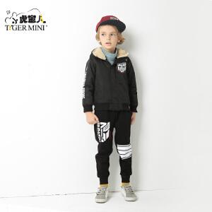 小虎宝儿童装儿童棉袄男童短款棉衣外套2017冬季新款 韩版中大童