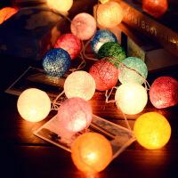 维莱 手工创意灯饰泰国线球灯藤球LED夜灯房间装饰品节日派对彩灯串灯 彩色【电池版】(不带电池)