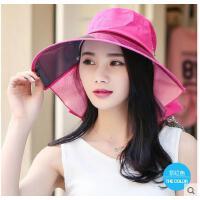 户外遮阳防晒帽沙滩帽大沿防夏季新款韩版潮流紫外线帽太阳帽可礼品卡支付