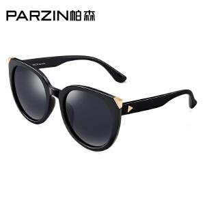 帕森偏光太阳镜女轻盈边框猫眼型潮男墨镜开车司机驾驶镜9886