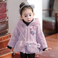 女童秋冬装外套小女孩毛毛衣服