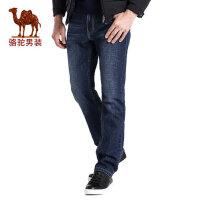 camel 骆驼男装 春秋季时尚中腰商务休闲青年牛仔裤男士长裤子