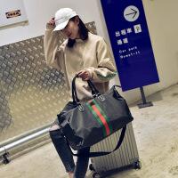 户外旅行大包手提短途单肩斜跨大容量行李包韩版彩条