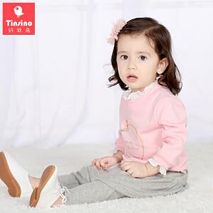 【1件3折价:41.7】纤丝鸟(TINSINO)女童卫衣儿童春秋套头上衣宝宝外套