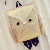 日韩女式猫头鹰双肩包休闲旅行包卡通立体背包
