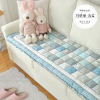 【人气】韩式纯棉手工拼接全棉沙发垫四季通用防滑加厚客厅防滑馒头垫子巾