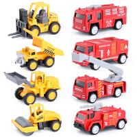 消防车合金车小号套餐警察军事工程儿童玩具车汽车模型