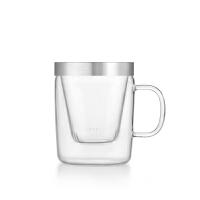 尚明高硼硅耐高温加厚玻璃花茶杯个人办公杯 玻璃内胆过滤透明玻璃礼品茗杯 s014B