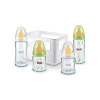 海外本土 德国NUK宽口玻璃奶瓶乳胶奶嘴4支礼盒套装(海外购)