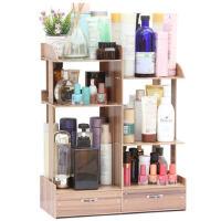 化妆品收纳盒抽屉式置物架化妆盒大号木制加高桌面收纳架