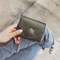 新款韩版钱包女短款 欧美复古女士钱夹锁扣小包零钱包女卡包