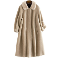 春秋季2018秋冬新款海宁羊剪绒大衣中长款水貂领羊毛皮草外套