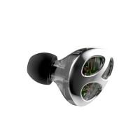 运动蓝牙HIFI高音质可换线重低音炮手机电脑通用塞入耳式圈铁六核双模耳机 (1根带麦线+1根蓝牙线)