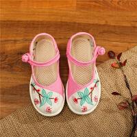 老北京布鞋女童绣花鞋中国风民族风古风汉服鞋子儿童布鞋女古装鞋