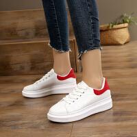 14CM韩版女高跟秋季新款厚底松糕鞋休闲坡跟单鞋内增高女鞋潮 红色 标准码