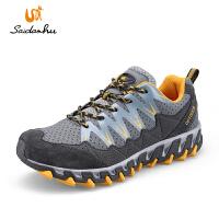 赛丹狐秋冬季防水登山鞋 反绒皮男鞋女户外鞋 耐磨防滑越野徒步鞋