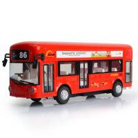 1:50天鹰盒装单层巴士旅游大巴公交车模型玩具儿童合金汽车模型