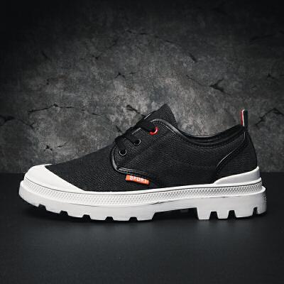 冬季大头鞋男士低帮马丁鞋英伦鞋厚底帆布鞋工装鞋男款休闲鞋