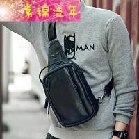 新品防水男士胸包腰包休闲运动包皮质潮流男手提单肩斜挎包韩版小背包