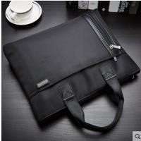 高档商务手提资料袋防水电脑包拉链袋文件包办公文包男女文件包