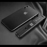数据线三合一通用手机充电器多头功能快充苹果安卓一拖三便携收纳短华为p20pro多用二合一 【绅士黑】[苹果/安卓/Ty