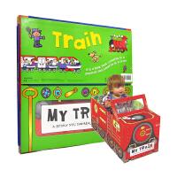 【首页抢券300-100】Convertible Train 变形大冒险车书 火车 可组装立体变形折叠玩具书 大开本地板