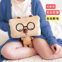 可爱布娃娃公仔女孩毛绒玩具玩偶冬季热水袋插手暖手宝抱枕捂手枕