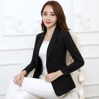 西装外套女韩版修身职业装小西装女西服女长袖秋款显瘦收腰女上衣