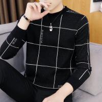 №【2019新款】男士毛衣加厚秋新款韩版潮流针织衫男修身加绒毛衫圆领