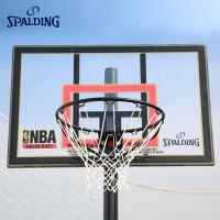 斯伯丁篮球架室外家用学校落地可移动便携式篮架训练器材77799篮板