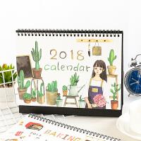 2017-2018年桌面DIY日历计划本文具小清新可爱卡通台历
