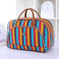 装衣服旅行包大容量手提行李袋大号牛津帆布放衣物整理袋子收纳包 彩色条纹 大