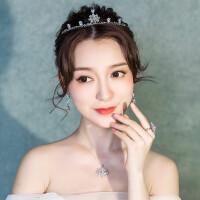 新娘皇冠头饰超仙三件套结婚饰品婚纱仙美大气发饰