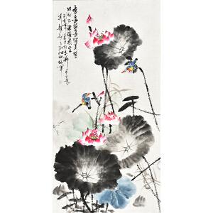 中国书画家协会会员 孔江林四尺整张花鸟画gh04499