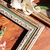 实木相框挂墙定做定制画框装裱画框木条镜框北欧美式装饰画框组合SN0876 复古色