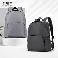 卡拉羊简约多功能休闲大容量男女旅行笔记本电脑背包双肩包CX5908