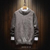 秋季新款高领毛衣男修身韩版潮流打底衫个性小清新学院风针织外套