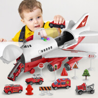 儿童玩具飞机益智回力惯性小玩具车仿真客机模型