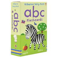 【首页抢券300-100】Usborne Very First ABC Flashcards 启蒙字母闪卡卡片 低幼儿童