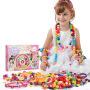 儿童益智diy手工制作穿珠子 女孩绕珠手链项链波普串珠玩具
