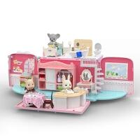 过家家房子儿童小屋娃娃屋厨房卧室女孩生日礼物套装女童