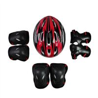 头盔护具轮滑板车旱溜冰鞋头盔护具成人护具全套装儿童7件套